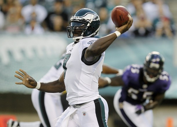Vick Looks Sharp, While Leading Eagles To 13-6 Victory