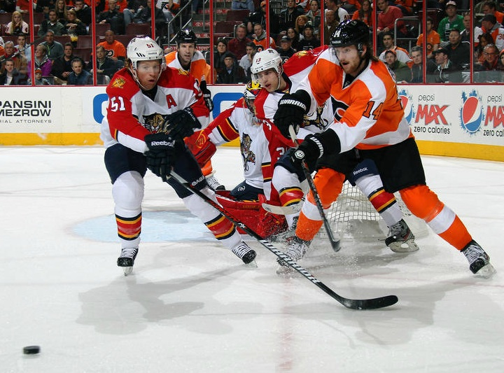 Couturier Faltering in Face-Off Circle