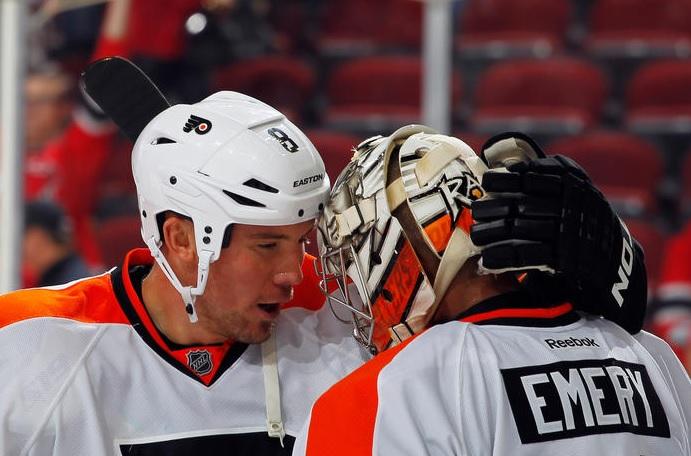 Ray Emery Earns 14-Save Shutout, Trolls NHL