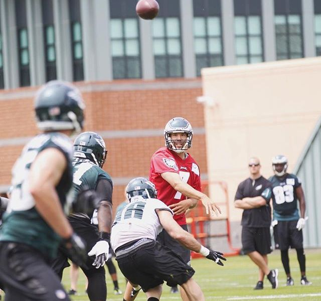 Eagles QB's Have Big Day At Tuesday Workout