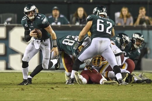 Video:  Carson Wentz Magically Avoids A Sack