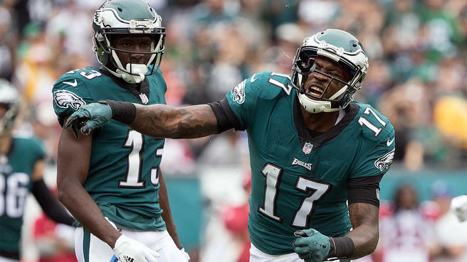 Eagles QB's & WR's Haven't Worked Together Much