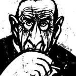 Alberto Breccia dibujado por su hijo, Enrique Breccia