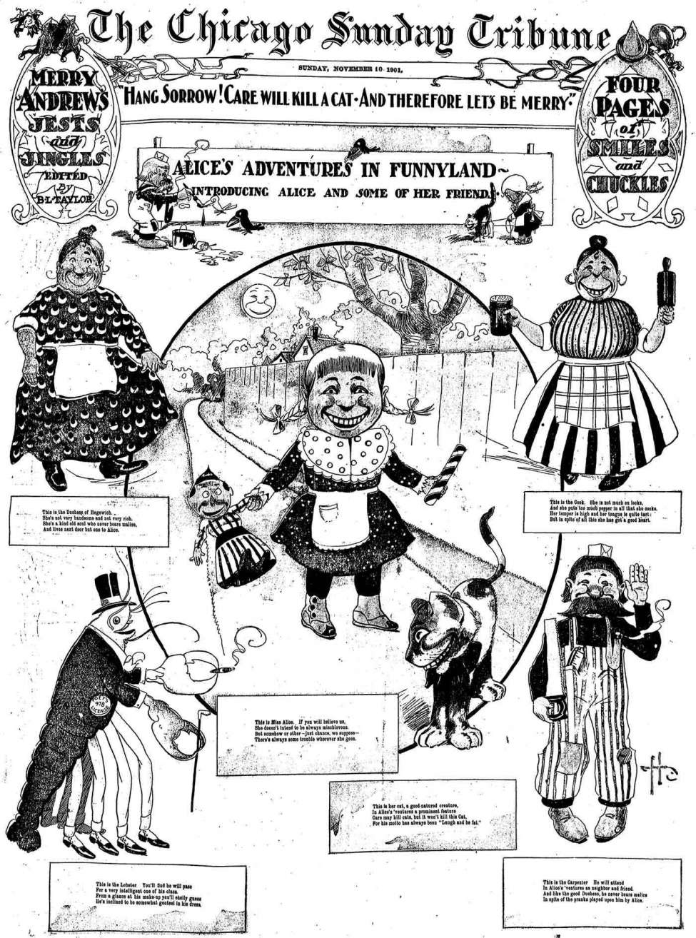 comic-en-diarios-chicago-sunday-tribune-alice-adventures-in-funnyland