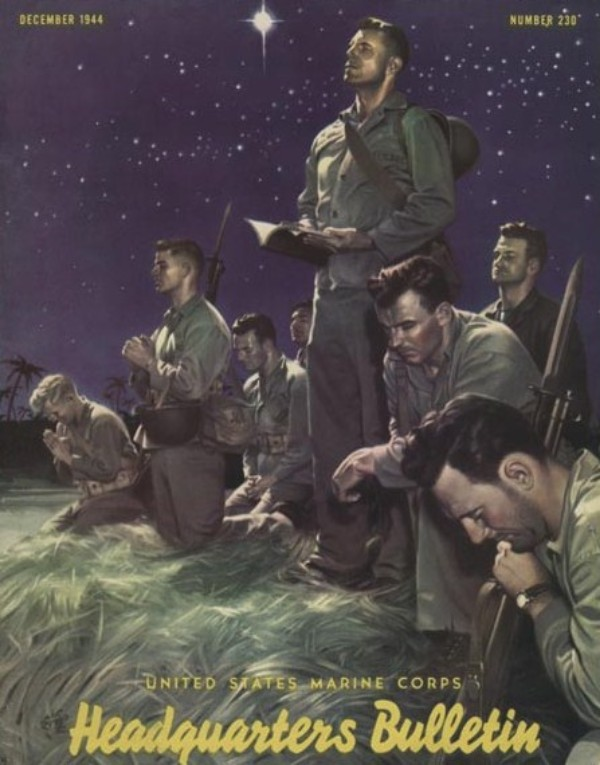 fundadores-del-comic-alex-raymond-marines-at-prayer