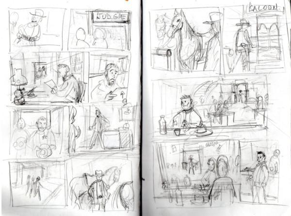 minicurso-trabajopractico03-historieta-western-bocetos
