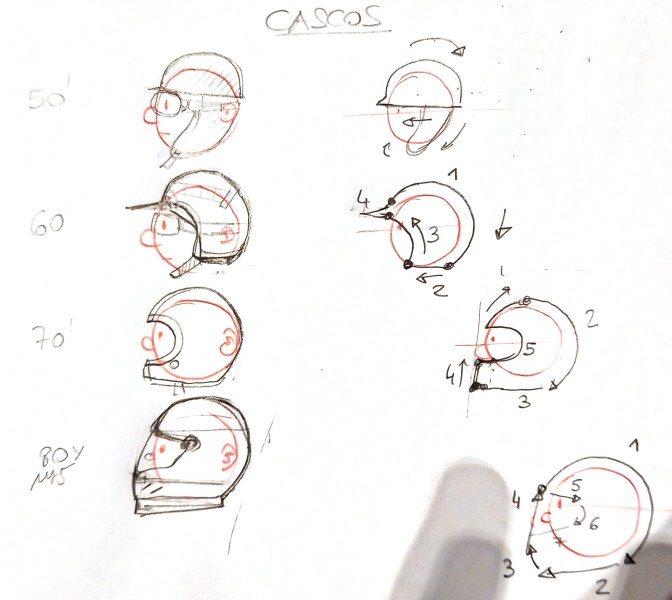 leccion15-comicnodibujantes-evolucion-formula1-cascos-evolucion-perfil