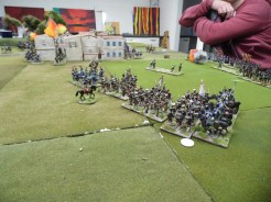 British light Dragoons hit the French column