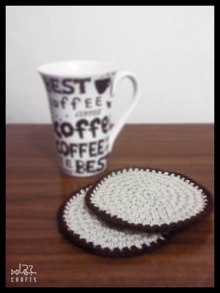 Simple Crochet Coaster Free Pattern (2/2)