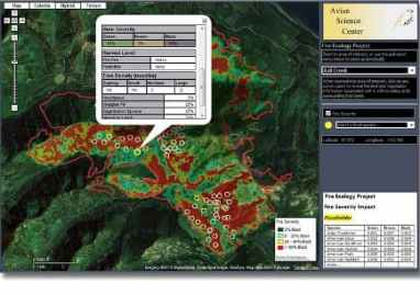 Avian Fire GIS Web Map with ArcGIS