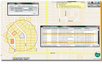 Property GIS Web Map Buffer Operations