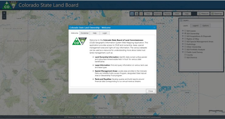 colorado-state-land-board-arcgis-netsuite-map