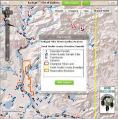 Interactive water quality mapping web site with ArcGIS enterprise