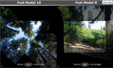 Microsoft photo analysis within wildland fire simulation