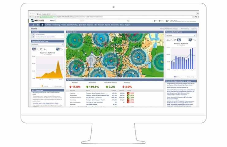 NetSuite Geospatial Dashboard