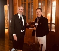 Outgoing GCSANC President Sean Tully (Meadow Club) with our 2017 President's Award Recipient Terry Grasso, CGCS (Retired) at our Annual Meeting and Awards Ceremony on January 16, 2018 at Meadow Club