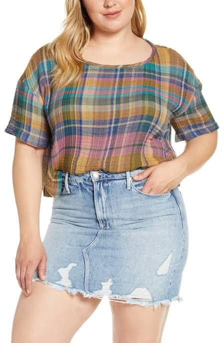 crop tops with high waisted skirt