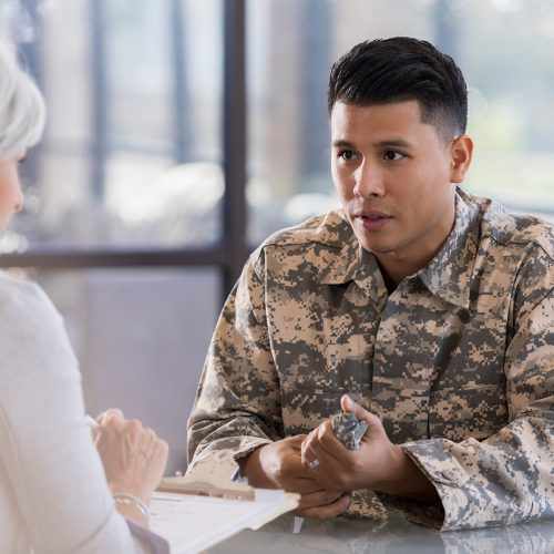 Soldier with Counselor