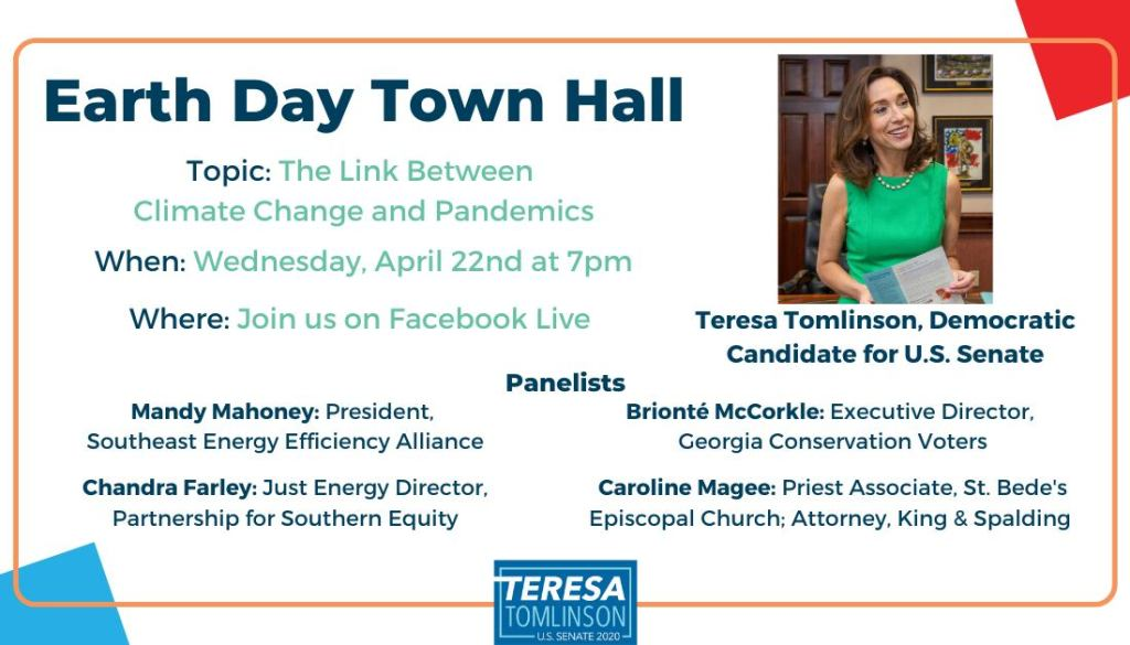 Earth Day Town Hall with Teresa Tomlinson