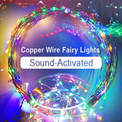Qoo10 BeatSync Sound Activated Copper Wire LED String