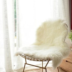 Chair Cover Qoo10 Graco Blossom 4 In 1 High 2 Carvapet Luxury Soft Faux Sheepskin Seat Pad Plush Fur Area Rugs