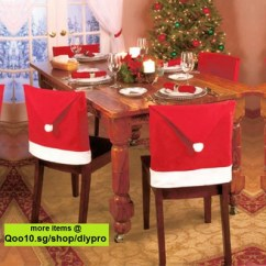 Chair Cover Qoo10 Kitchen Table And Chairs Xmas Furniture Deco Christmas Santa Stocks In Sg