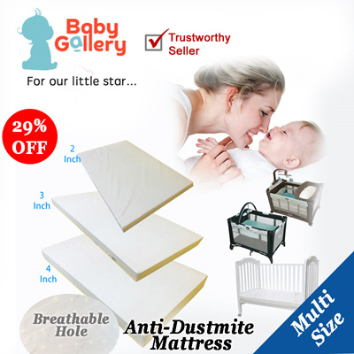 Playpen Form Mattress With Breathable Hole Multi Able Size Baby Cot Graco