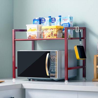 ikea kitchen rack modern cabinets online qoo10 heart home microwave metal oven storage fashion seasoning r