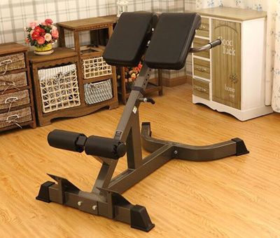 gym quality roman chair floor with back support qoo10 hyper extension workout fitness bench top sports equipment