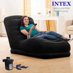 Intex Sofa Chair Best Quality Sofas 2017 Qoo10 Furniture Deco Mega Lounge New Style Flocked Top Air Inflatable Single