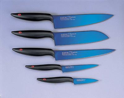 titanium kitchen knives oval table sets qoo10 japanese kni dining knife kasumi complete set with diamond sharpener