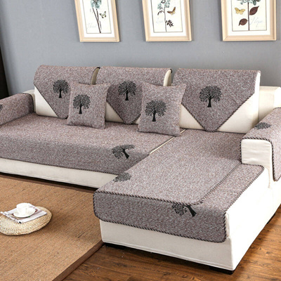 cushion sofa set and console tables wood qoo10 kaxiqi plain all seasons cotton simple cove household bedd