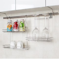 Kitchen Racks Etched Glass Cabinet Doors Qoo10 Rack Dining Sink Multi Wall Mounted Cabinets Hanging With Shelves Spice Bottle