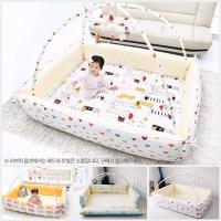 Qoo10 - korea shubi bumper foldable bed Baby playmat ...