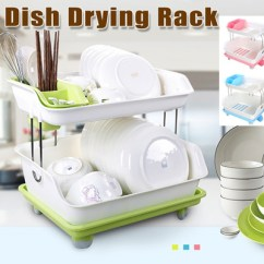 Kitchen Drying Rack Lights For Ceiling Qoo10 Lilla Dish 2 Tier Drainer Kitche Dining