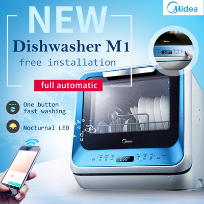 kitchen fryer ceiling fans with bright lights qoo10 - midea dishwasher : small appliances