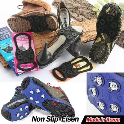 Non Slip Sole Eisen Anti Winter Ice Snow Cleats for walking Made in Korea