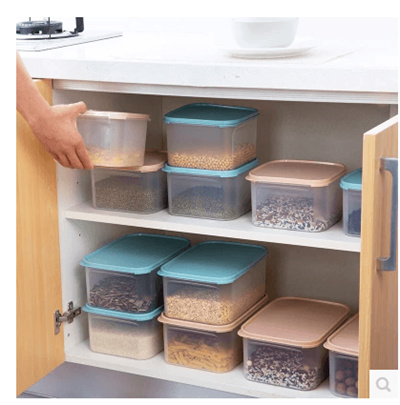 qoo10 - plastic transparent food storage boxes kitchen storage boxes