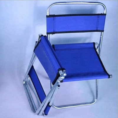 fishing chair small koken barber qoo10 portable folding backrest blue stool sports equipment