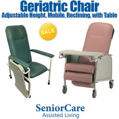 Geriatric Chair For Elderly Slipcovers Walmart Qoo10 Furniture Deco Adjustable Height Manual Reclining Water Resistant Easy To Clean Overchair Table