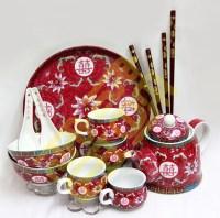 Qoo10 - Wedding Teapot Set Dining Set Bowl Set Chinese ...
