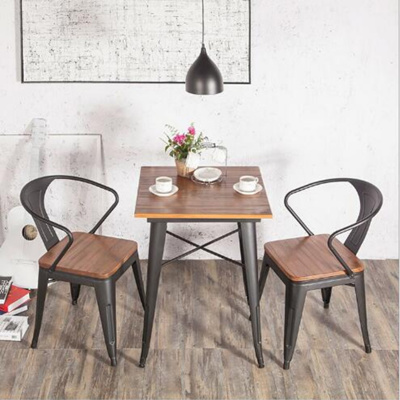 retro cafe table and chairs chair covers east yorkshire qoo10 tsdt008industrial vintage solid wood square coffee tsdt 80x80 3cm