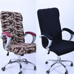 Office Chair Covers Uk Ivory Qoo10 Swivel Computer Cover Stretch Armchair Protector Seat Decoration