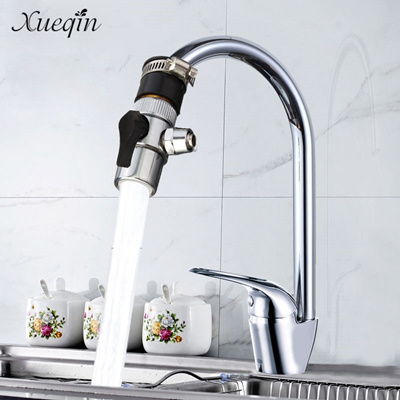 kitchen water faucet small eat in table qoo10 saving bubbler swivel tap connector bathroom valve filter nozzle