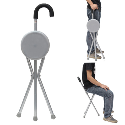 walking stick chair high back beach chairs qoo10 lightweight portable folding tripod cane with seat maximum weight 130kg