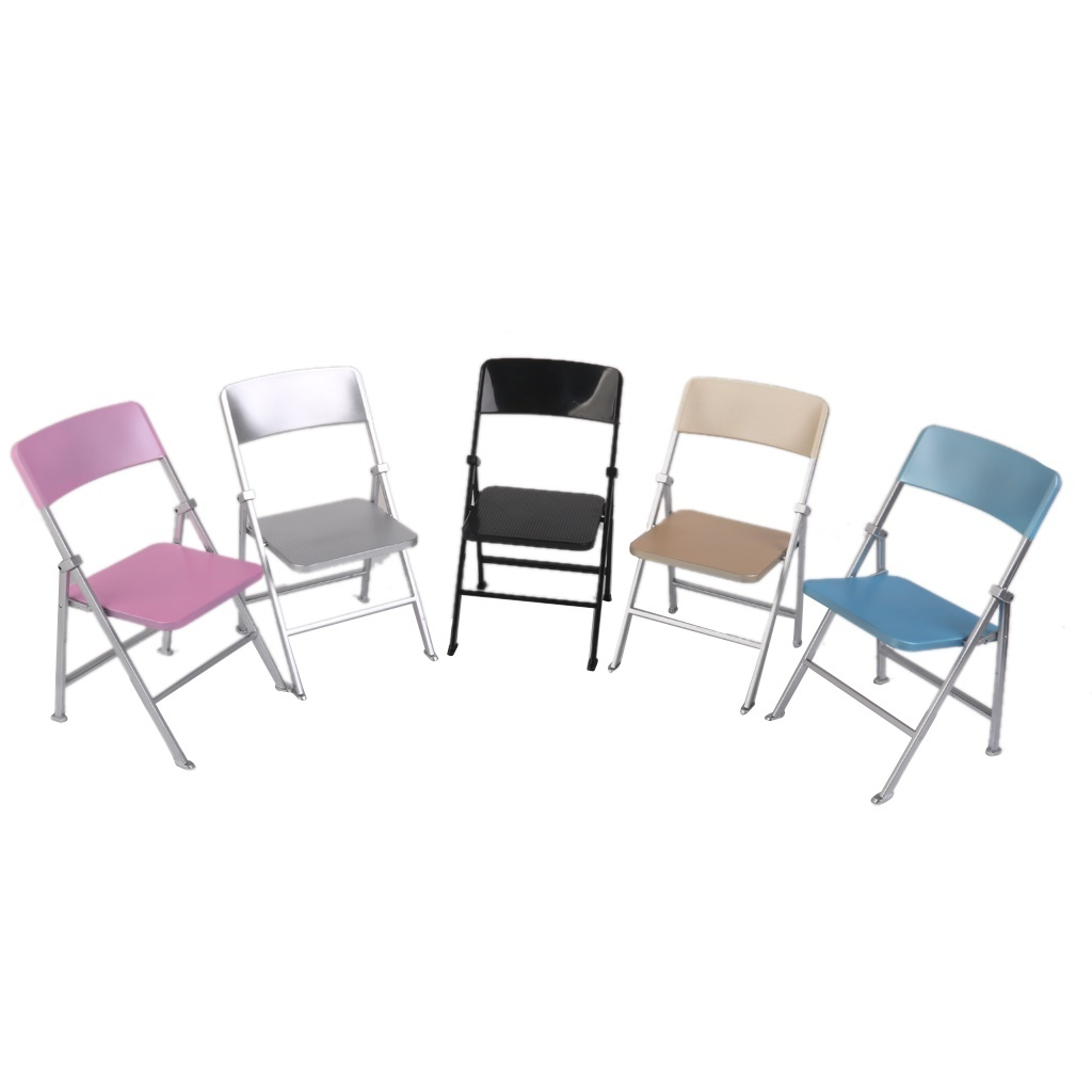 Cute Folding Chairs Cute 1 6 Scale Min Dollhouse Furniture Folding Chair With Ashtray Dolls Action Figures Multicolor
