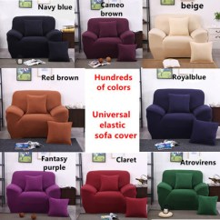 Sofa Cover Cloth Rate Tan Leather Luxury Sofas Qoo10 Sg Stocka Universal Spandex 4 Sizes Cushion
