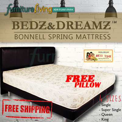 Bedz And Dreamz Bonnell Spring Mattress Free Delivery Pillow