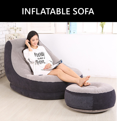 intex sofa chair baby sofas uk qoo10 inflatable furniture deco fast delivery home office lounge