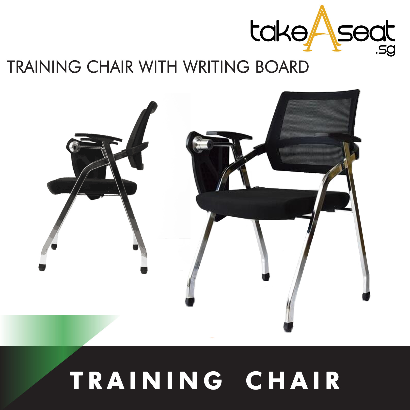 Foldable Office Chair Takeaseattraining Chair With Writing Board Seminar Chair Foldable